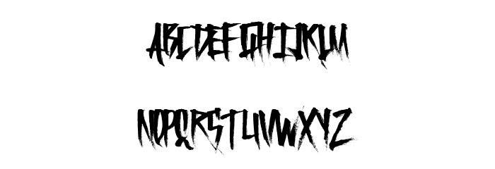 FrightfulCarts Font UPPERCASE
