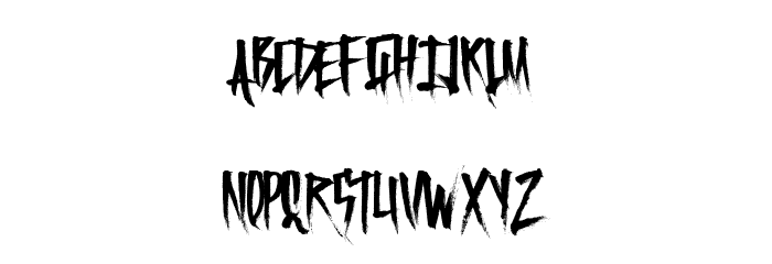 FrightfulCarts Font LOWERCASE