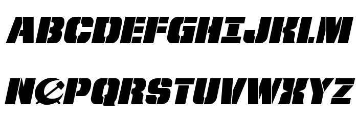 From BOND With Love Expanded Italic Fonte MAIÚSCULAS