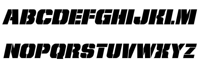 From BOND With Love Expanded Italic Fonte MINÚSCULAS