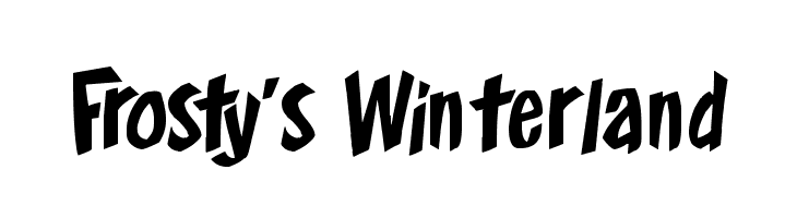 Frosty's Winterland  Free Fonts Download