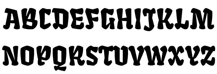 Fruktur Regular Font UPPERCASE