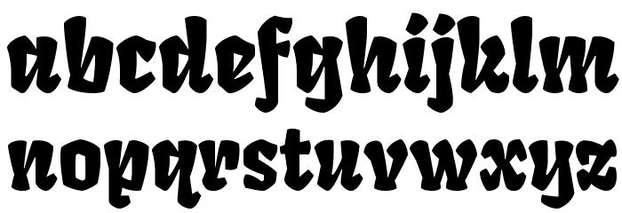Fruktur Regular Font LOWERCASE