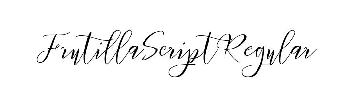 Frutilla Script Regular  Скачать бесплатные шрифты