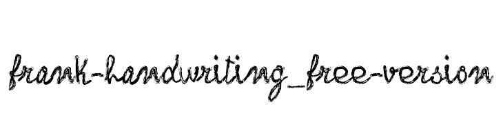 frank-handwriting_free-version  les polices de caractères gratuit télécharger