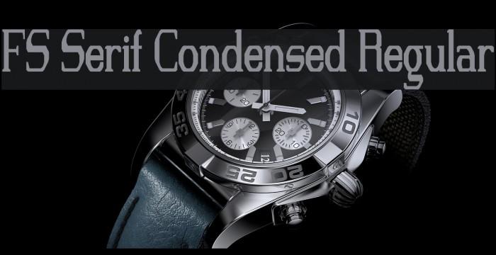 FS Serif Condensed Regular Font examples