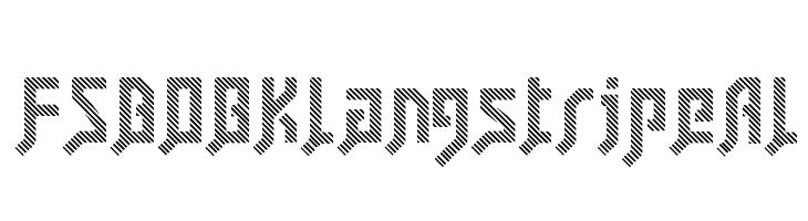 FSB08KlangstripeAl  Скачать бесплатные шрифты