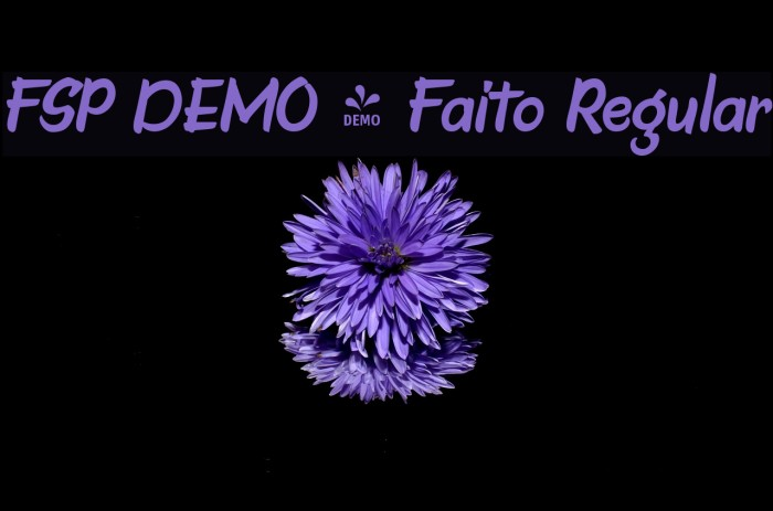 FSP DEMO - Faito Regular Fuentes examples