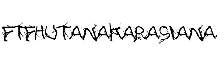FTFHutanAkarasiana  Скачать бесплатные шрифты
