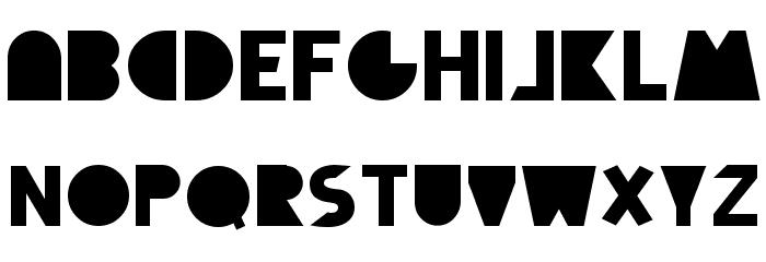 Full Circle Font UPPERCASE