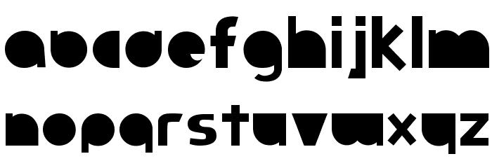 Full Circle Font LOWERCASE