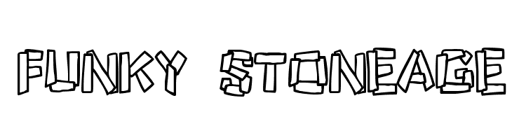 Funky Stoneage  Free Fonts Download