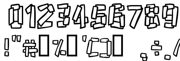 Funky Stoneage Шрифта ДРУГИЕ символов