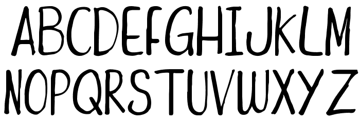 Funny Duck Font UPPERCASE