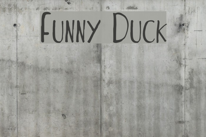 Funny Duck Font examples