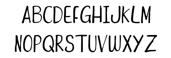 Funny Duck Font LOWERCASE
