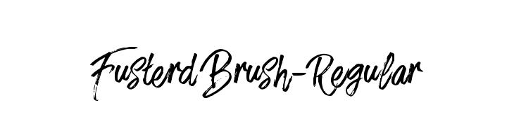 FusterdBrush-Regular  Descarca Fonturi Gratis