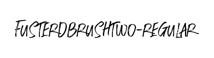 FusterdBrushTwo-Regular  Descarca Fonturi Gratis