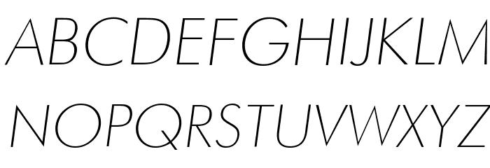 Futura Thin Italic Шрифта ВЕРХНИЙ
