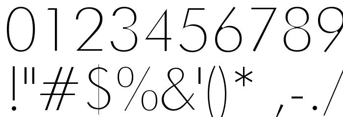 Futura Thin Font OTHER CHARS