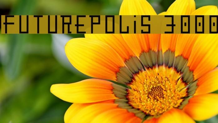 Futurepolis 3000 Font examples
