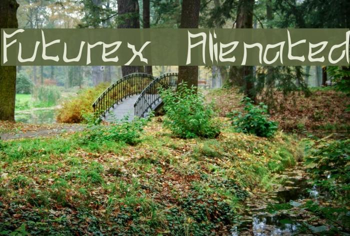 Futurex Alienated फ़ॉन्ट examples