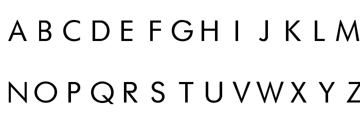 Futurist Fixed-width Font UPPERCASE