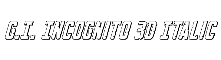 G.I. Incognito 3D Italic  Free Fonts Download