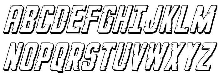 G.I. Incognito 3D Italic フォント 大文字