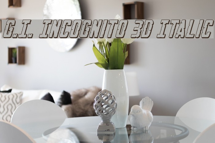 G.I. Incognito 3D Italic フォント examples