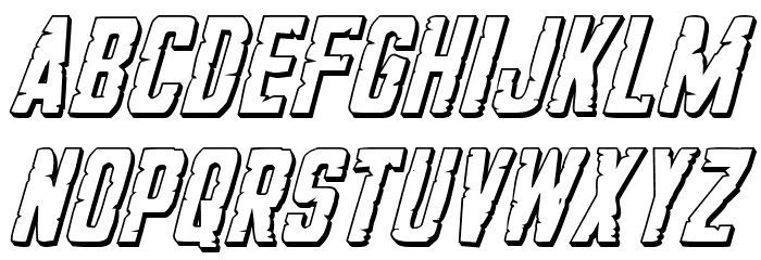 G.I. Incognito 3D Italic フォント 小文字
