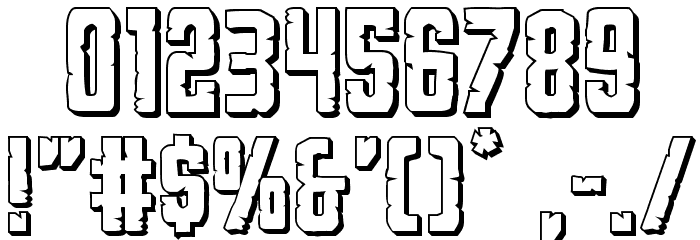 G.I. Incognito 3D Regular Font OTHER CHARS