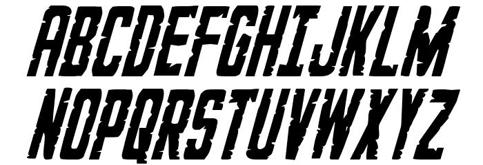 G.I. Incognito Condensed Italic フォント 大文字