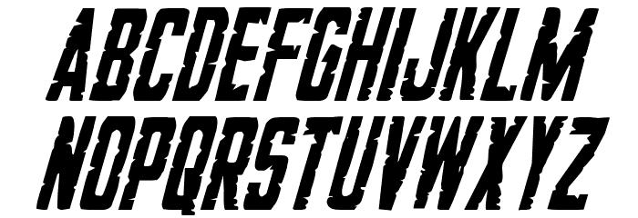 G.I. Incognito Condensed Italic フォント 小文字