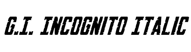 G.I. Incognito Italic  baixar fontes gratis
