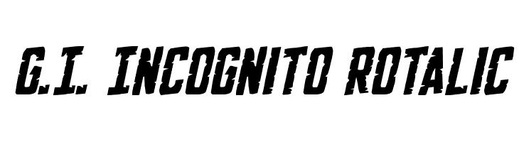 G.I. Incognito Rotalic  baixar fontes gratis