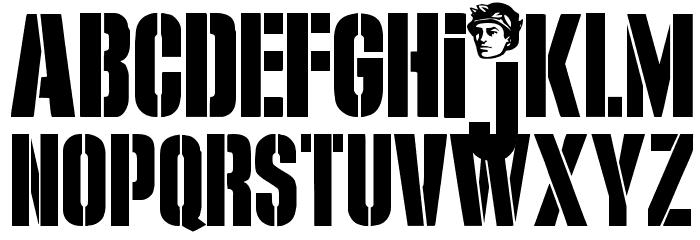 G.I. JERK Font LOWERCASE