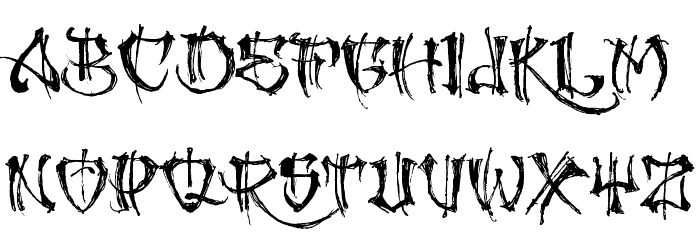 GANGLAND Font UPPERCASE