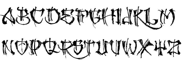 GANGLAND Font LOWERCASE