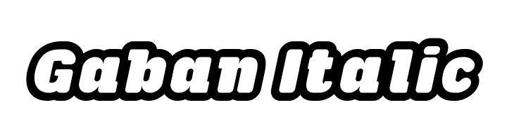 Gaban Italic  Скачать бесплатные шрифты