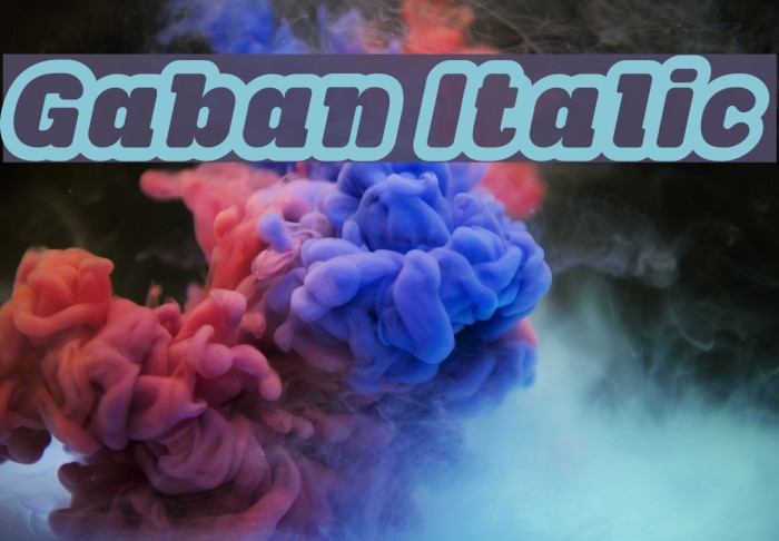 Gaban Italic फ़ॉन्ट examples