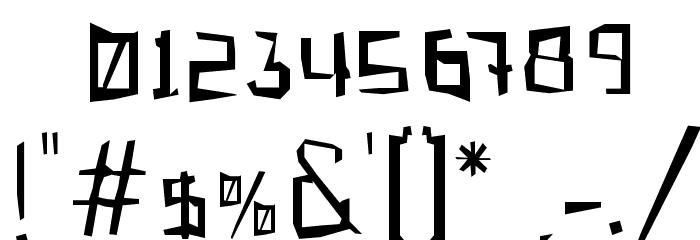 Gabardina Font OTHER CHARS