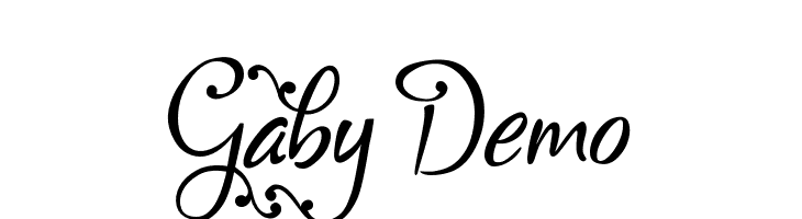 Gaby Demo  Free Fonts Download