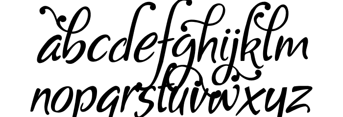 Gaby Demo Font LOWERCASE