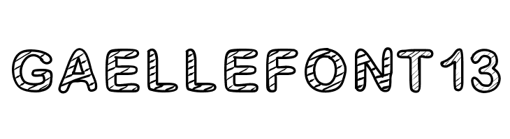 GaelleFont13  Free Fonts Download