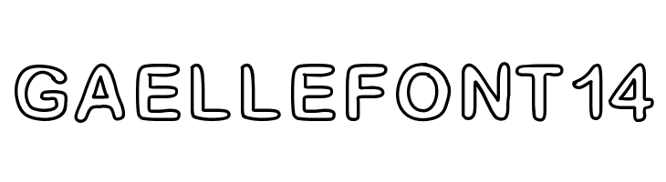 GaelleFont14  Free Fonts Download