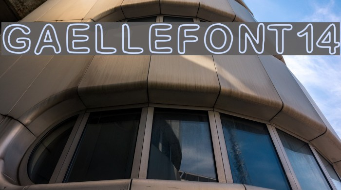 GaelleFont14 Шрифта examples