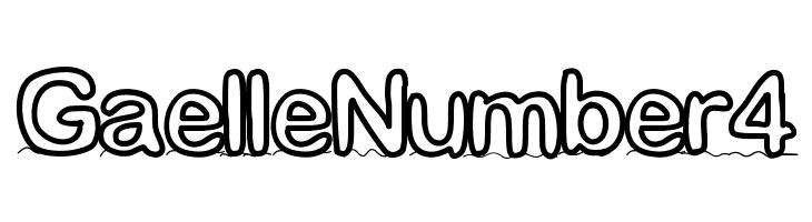 GaelleNumber4 Font