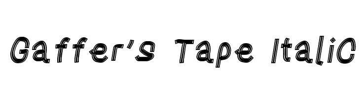 Gaffer's Tape Italic  フリーフォントのダウンロード