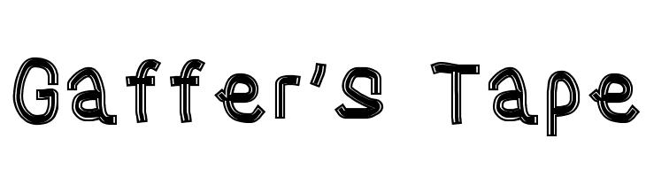Gaffer's Tape  नि: शुल्क फ़ॉन्ट्स डाउनलोड